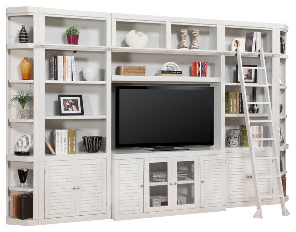 Parker House, Boca 32 Inch Bookcase Entertainment Wall  Beach Style Entertainment Centers