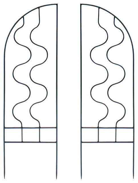 Primrose Trellis Side Panels, Set Of 2.