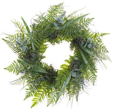 Silk Plants Direct Eucalyptus And Lavender Wreath, Set Of 1.