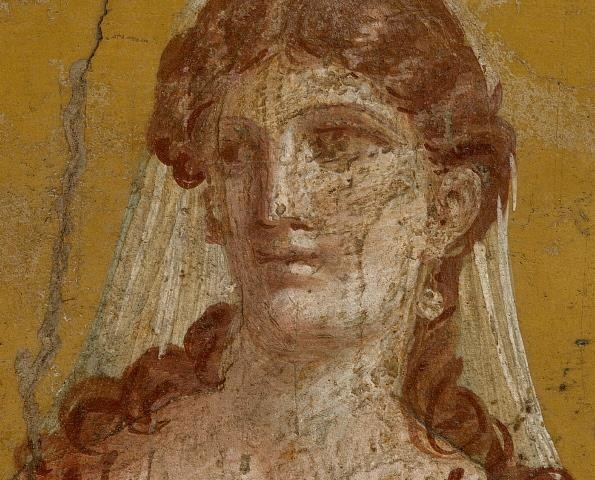 Fine Art Murals Detail Of Ancient Roman Fresco Painting With Female Figure    24 Traditional  Part 90