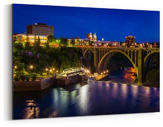 Spokane Washington Cityscape Art Print Contemporary