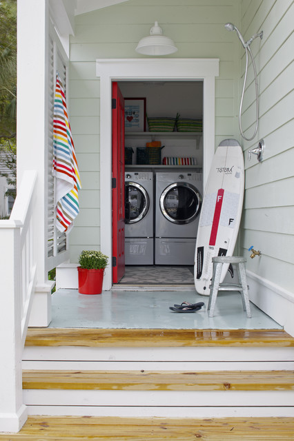 Outdoor Shower Laundry Beach Style Room