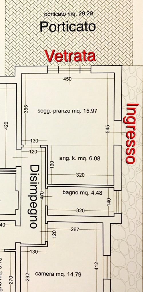 Ben noto Progetto living con cucina open space SH27