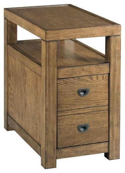 Hammary Juno The Hamilton Chairside Table Transitional Side Tables And End