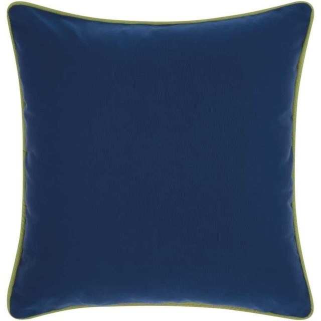 Mina Victory 3 Color Solid And Cord Outdoor Throw Pillow