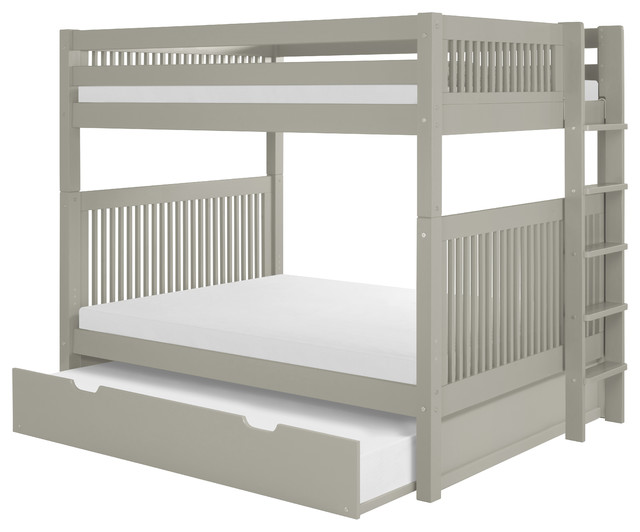 Contemporary Bunk Beds camaflexi mission bunk bed with vertical bed end ladder