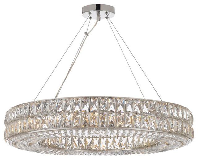 Crystal Spiridon Ring Chandelier Modern Contemporary Lighting Pendant