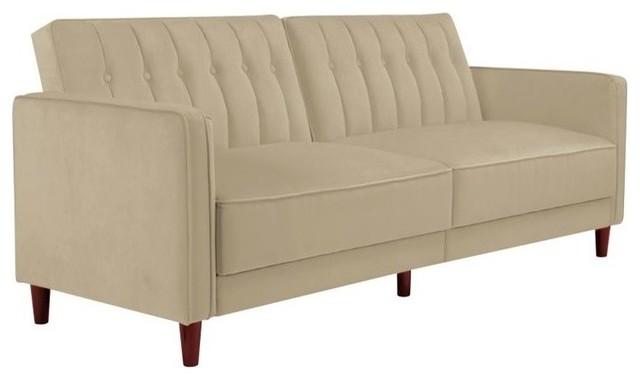 Dhp Pin Velvet Convertible Sleeper Sofa