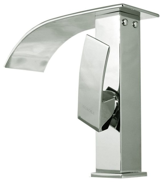 Cascade Waterfall Vessel Sink Faucet Contemporary Bathroom Sink Faucets