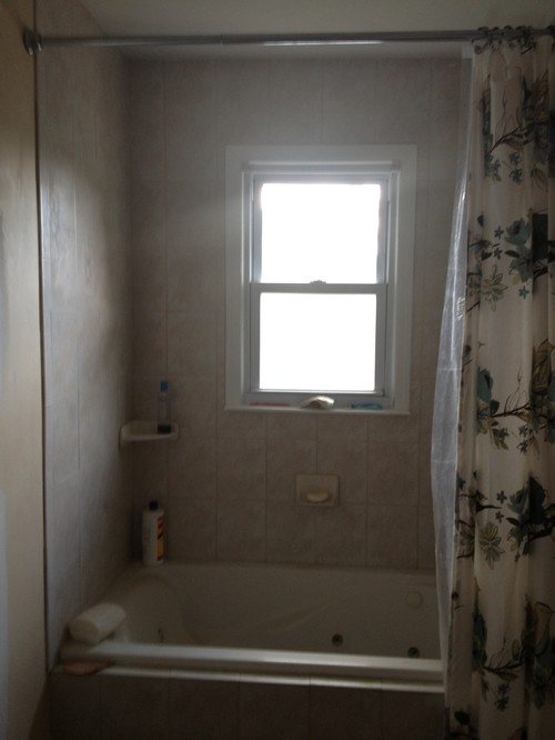 Window With Gl Block In Shower