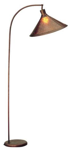 68 Height Metal Arc Lamp In Rust.