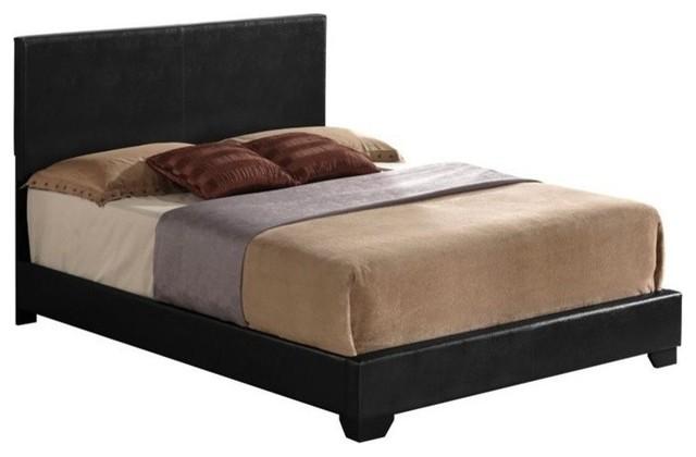 Acme Ireland Iii Queen Bed Panel, Black Pu.