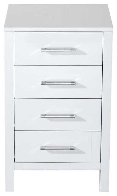 "Virtu Usa Inc. Dior 18"" Side Cabinet - Bathroom Cabinets And Shelves ..."