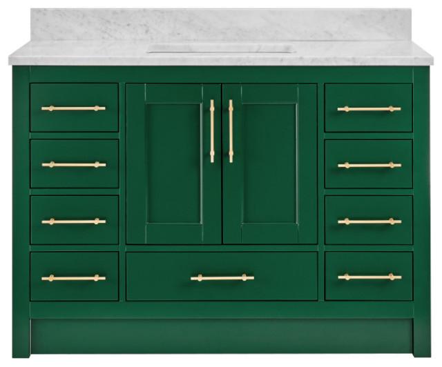 Kendall Emerald Green Bathroom Vanity Transitional Bathroom Vanities And Sink Consoles By Houzz