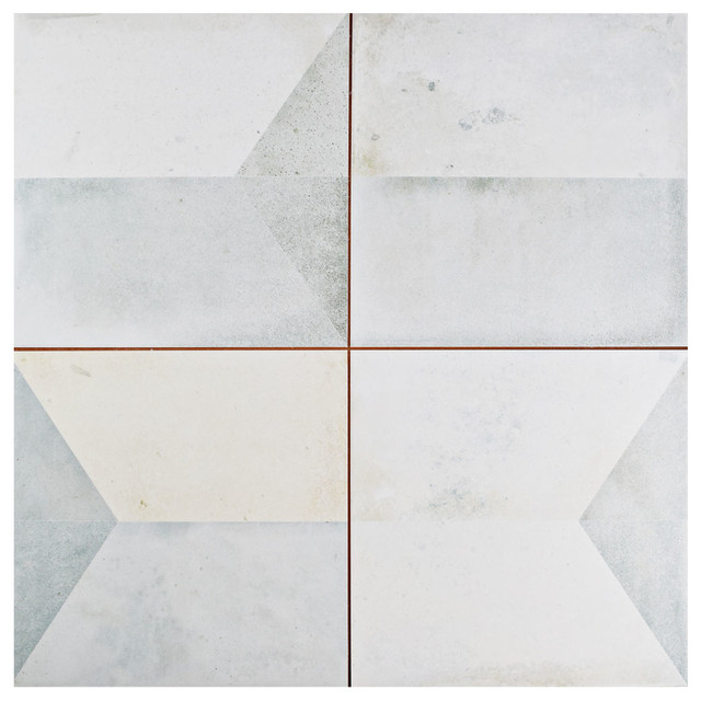 """Contemporary Wall Tile 17.58""""x17.58"""" geomenta ceramic floor and wall tiles, set of 5"""