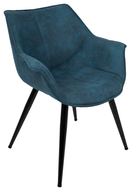 Lumisource Wrangler Accent Chair, Set of 2, Blue