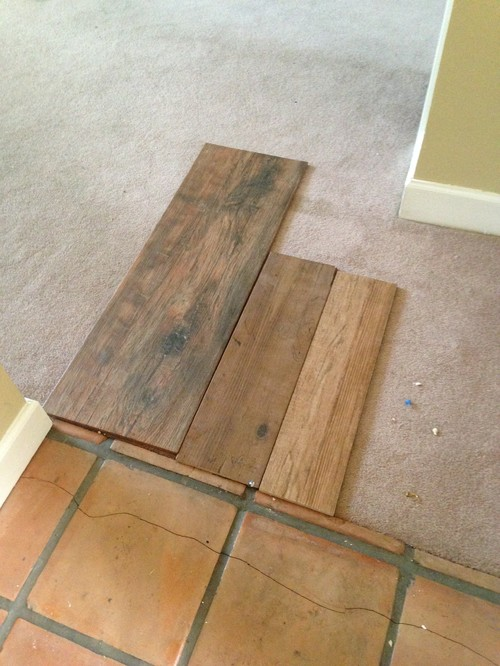 Which wood tile with Saltillo tile floors