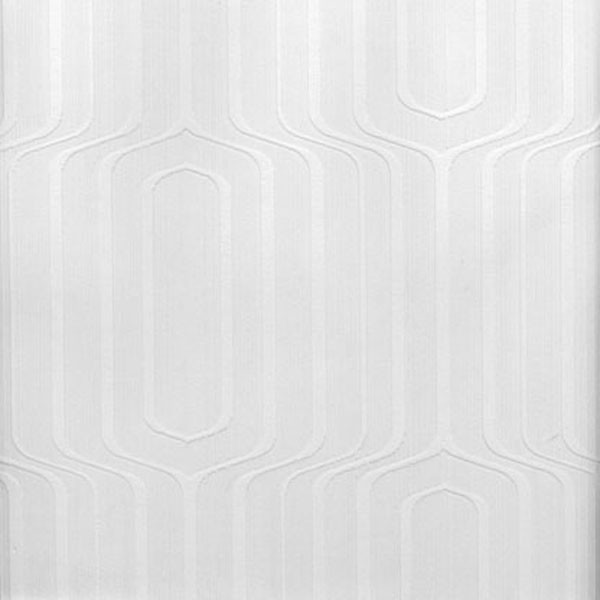 Paintable Wall Paper pitch geometric ogee paintable wallpaper - transitional
