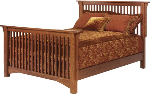 Ordinaire Full Old English Mission Slat Bed