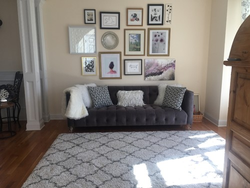 - Modern Glam Sitting Room Makeover, HELP Coffee Table, Chairs, Drapes