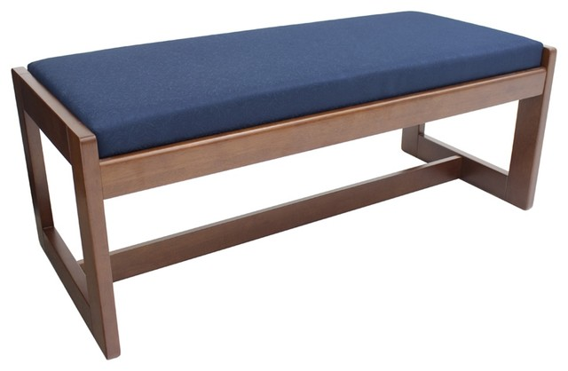 Belcino Double Seat Bench, Cherry/blue.