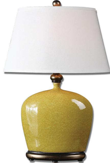 Matthew Williams Geraldine Burnt Yellow Table Lamp Traditional Table Lamps