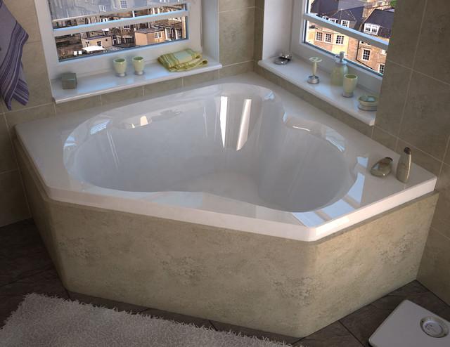 Venzi Tovila 60x60 Corner Soaking Bathtub - Bathtubs - by Luxvanity