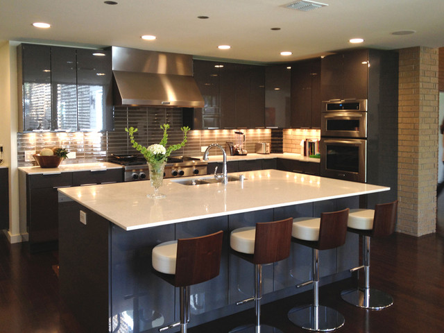 Modern Kitchen Contemporary Dallas By Bauhaus Custom Homes