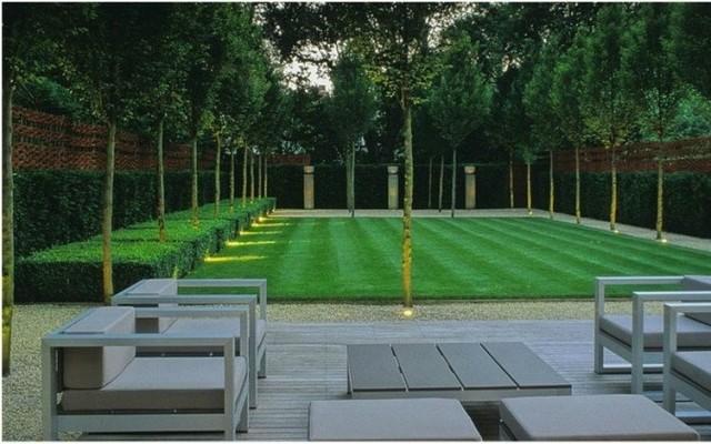 Imagen de jardín contemporáneo grande
