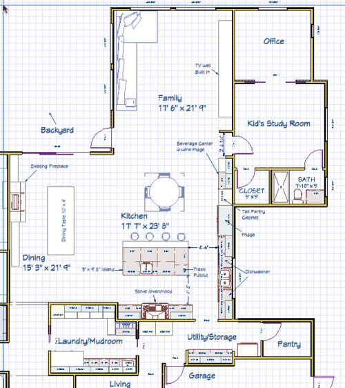 Need help with kitchen island layout double island bad for Island kitchen designs layouts