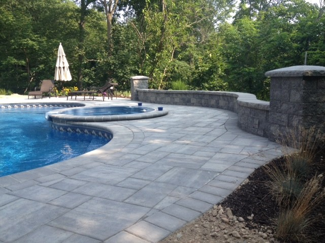 Melville Pool Patio Traditional Patio
