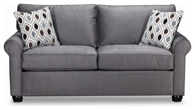 Incredible Simmons Upholstery Jojo Smoke Full Sleeper Sofa Home Interior And Landscaping Mentranervesignezvosmurscom