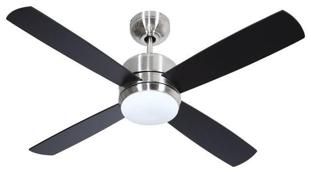 Craftmade Montreal Modern Ceiling Fan With Blades, 1-Light 50w, Stainless Steel.