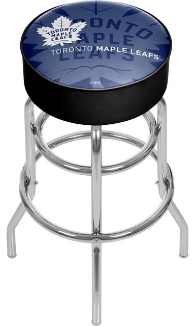 Fine Nhl Chrome Bar Stool With Swivel Watermark Toronto Maple Leafs Bralicious Painted Fabric Chair Ideas Braliciousco