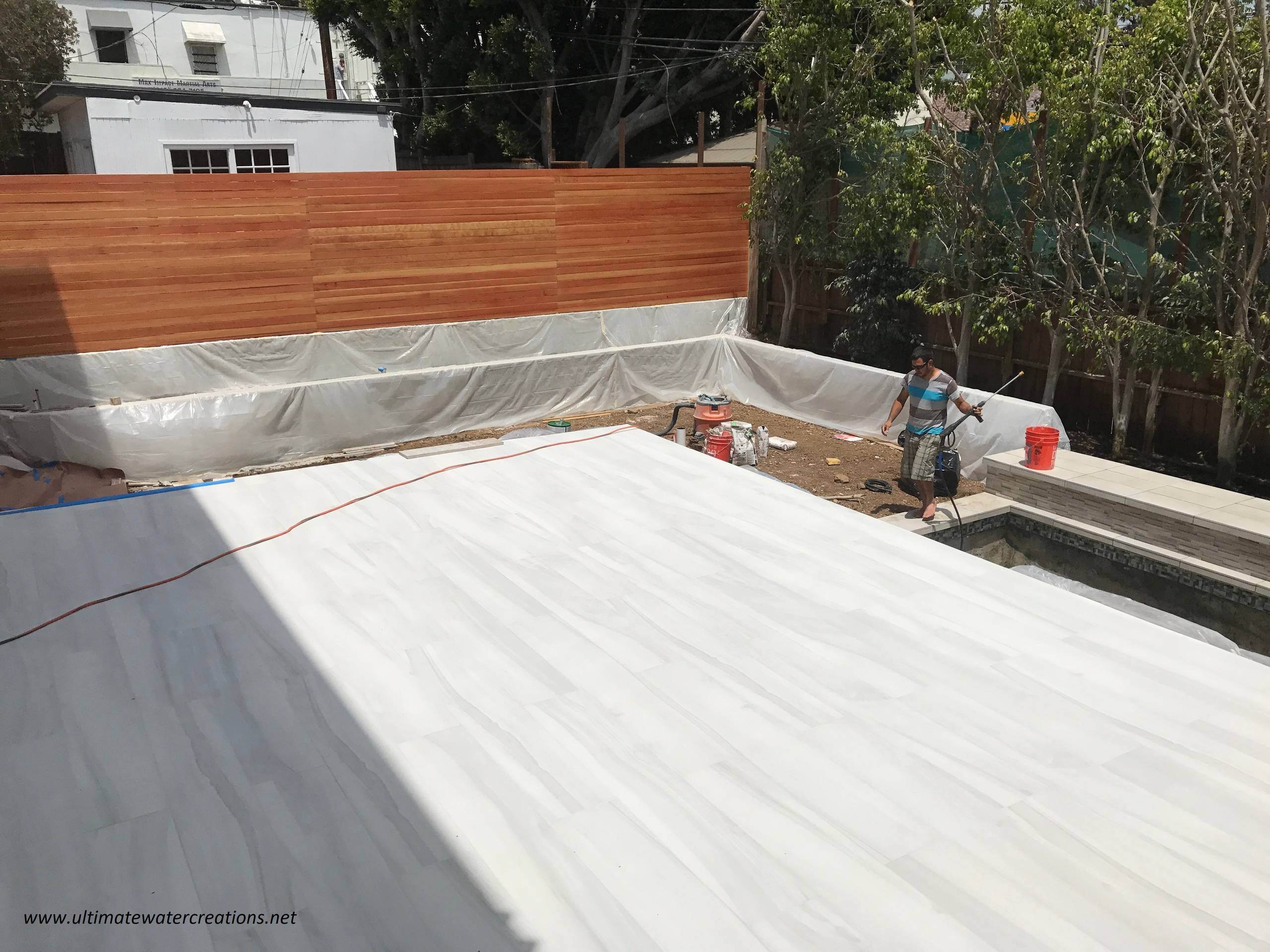 Before & After Pacific Palisades - Contemporary Pool with Built-In Cover