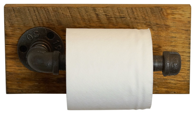 Rustic Wall Mounted Tp Holder Industrial Toilet Paper Holders By Loft Essentials