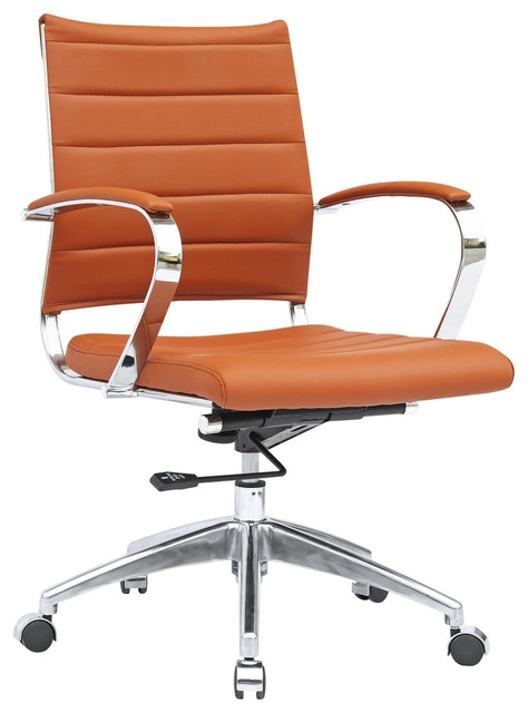 Sopada Conference Office Chair Mid Back, Light Brown.