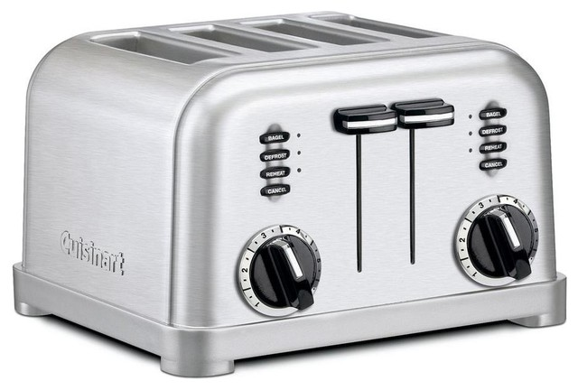 Cuisinart Classic 4 Slice Metal Toaster Brushed Stainless