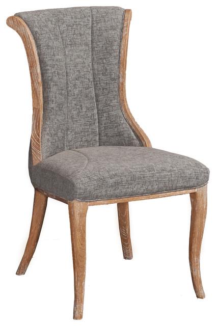 Tremendous Avalon Flared Back Chair Charcoal Machost Co Dining Chair Design Ideas Machostcouk