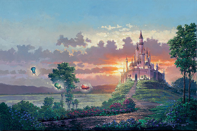 Disney Fine Art Blessings For The Princess By Rodel