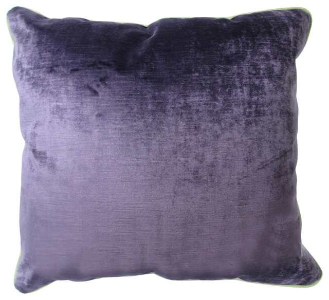Brilliant Datlow Velvet Pillow Cover Violet Caraccident5 Cool Chair Designs And Ideas Caraccident5Info