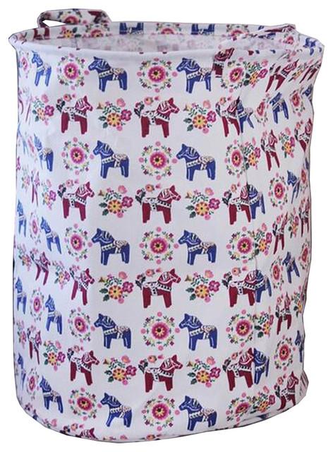 Foldable Laundry Basket Laundry Hamper Cloth Storage Basket Horse.