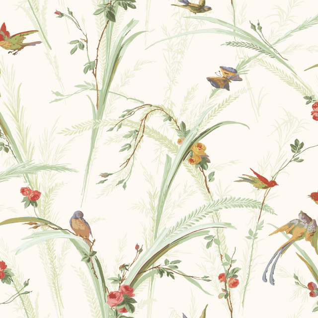 Doreen Green Botanical Wallpaper Sample Wallpaper By Brewster Home Fashions