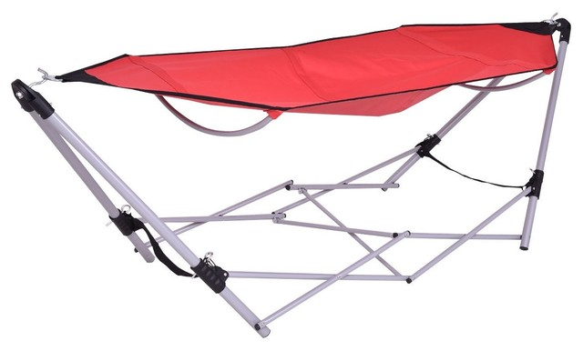 Modern Portable Folding Steel Frame Hammock With Bag Contemporary Hammocks And Swing Chairs By Imtinanz Llc