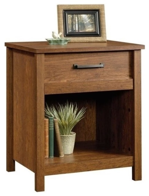 Pemberly Row Nightstand, Milled Cherry.