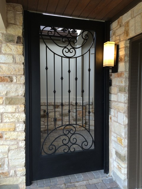 Decorative iron front doors austin by architectural for Exterior doors austin tx