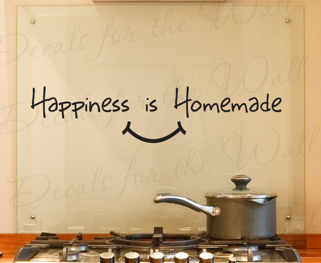 wall decal quote vinyl sticker art removable happiness is homemade