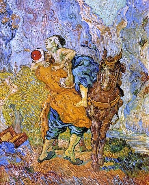 Vincent Van Gogh The Good Samaritan, after Delacroix, Print