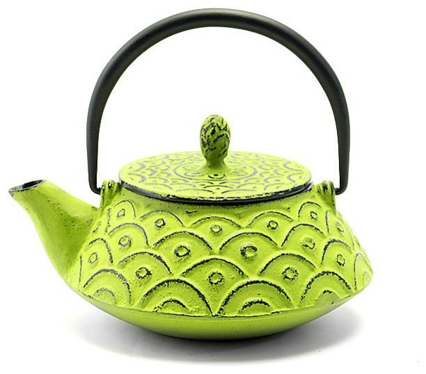 Rikyu Wave Cast Iron Teapot Yellow