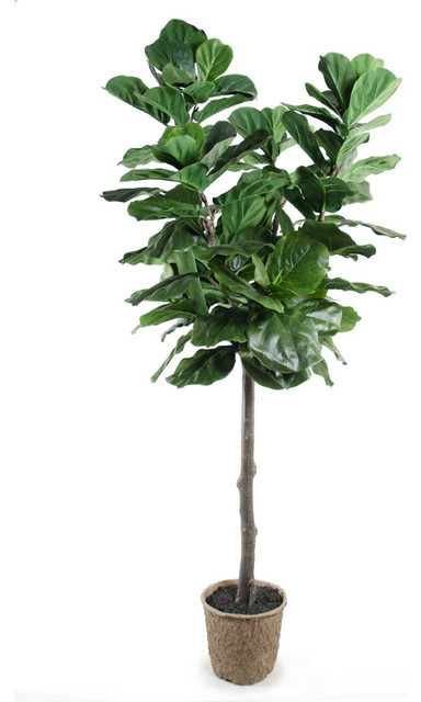 Faux Fiddle Leaf Fig Tree Transitional Artificial